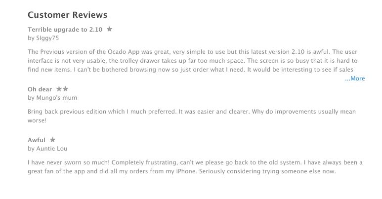 Ocado for iPhone reviews