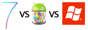 iOS 7 vs. Windows Phone 8 vs. Android Jelly Bean 4.2